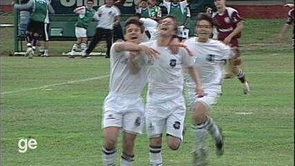 Gols de Ronicley, pelo Rio Branco-ES, contra a Desportiva Capixaba