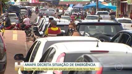 Quase 90% do estado de Amapá está sem energia elétrica desde terça-feira (3)