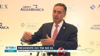 Presidente do TSE, Barroso participou de evento em Vitória