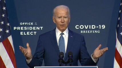 Joe Biden: 'Vamos começar fazendo tudo possível para controlar a Covid-19'
