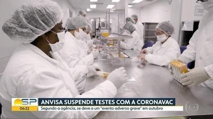 Anvisa pausa testes da Coronavac no Brasil após 'evento adverso grave'