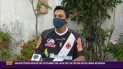 Maior pontuador da Liga do ge Paraíba em outubro dá dicas para a rodada #21