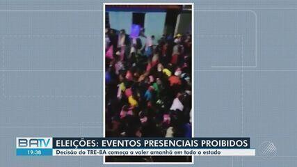 TRE proíbe qualquer evento político presencial toda Bahia; medida começa a valer na quarta