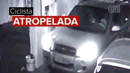 Vídeo mostra motorista que atropelou e matou ciclista em SP chegando a estacionamento