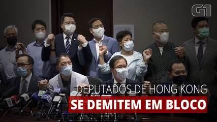 Deputados pró-democracia anunciam renúncia em bloco em Hong Kong