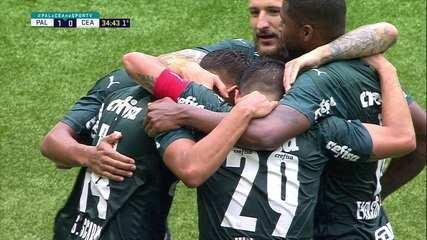 Melhores momentos: Palmeiras 3 x 0 Ceará, pelas quartas de final da Copa do Brasil