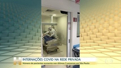 Número de pacientes aumenta nas últimas 3 semanas em hospitais particulares de SP