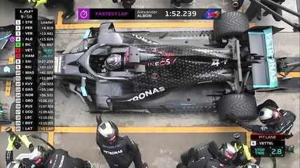 Vettel e Hamilton fazem o pit stop no GP da Turquia