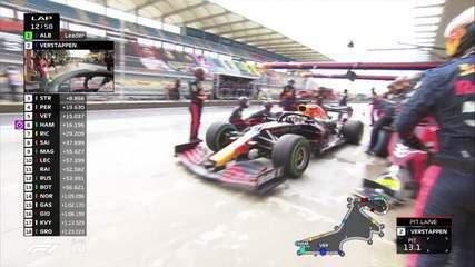 Max Verstappen para apenas na volta 12 e volta atrás de Pérez no GP da Turquia