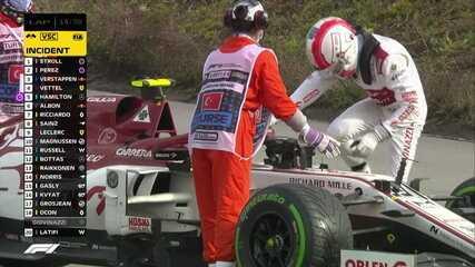 Giovinazzi abandona por problema no carro, e safety car virtual é acionado no GP da Turquia