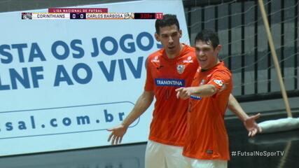 Os gols de Corinthians 2 x 2 Carlos Barbosa, pela Liga Nacional Futsal