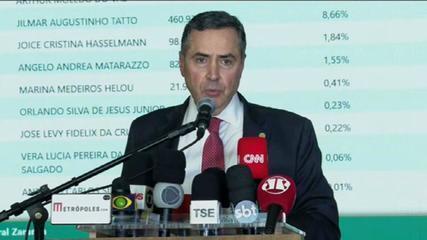Ministro Luís Roberto Barroso faz balanço do primeiro turno das eleições