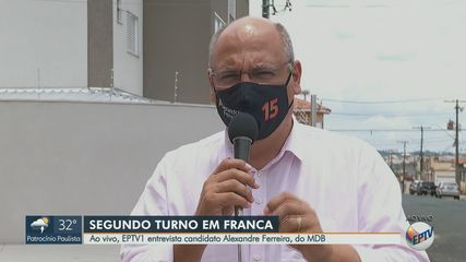 Alexandre Ferreira, do MDB, vai ao 2° turno das eleições em Franca, SP
