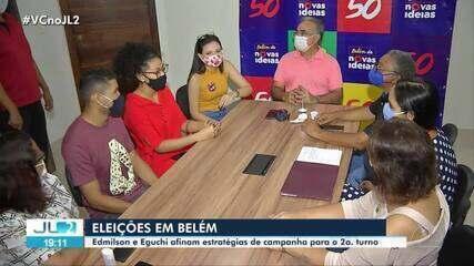 Edmilson Rodrigues e Delegado Eguchi definem rumos da campanha para o 2º turno