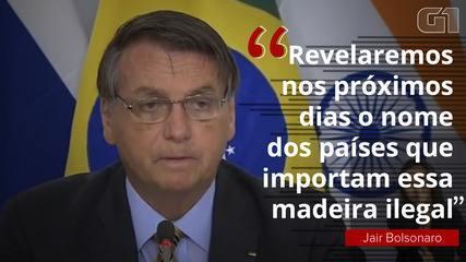 Bolsonaro diz que divulgará países que compram madeira ilegal, mas criticam Brasil por desmatamento | Política | G1