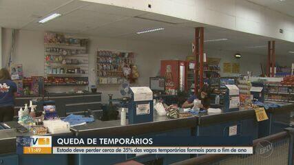 Número de vagas temporárias de fim de ano cai 35% no Estado de São Paulo