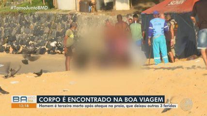 Tiroteio deixa três pessoas mortas e duas feridas na praia da Boa Viagem, em Salvador