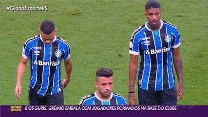 Grêmio decide vaga na semifinal da Copa do Brasil no embalo dos jogadores formados na base