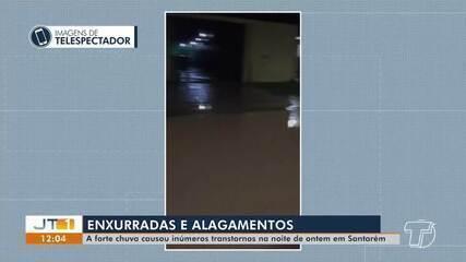 Forte chuva causa inúmeros transtornos na noite de quarta em Santarém