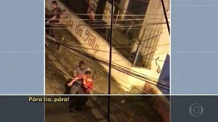 Vídeo de celular mostra policiais militares agredindo rapaz que fugia em Santo André