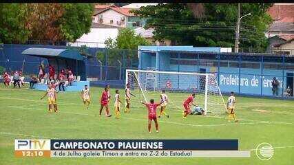 Piauiense: 4 de Julho goleia o Timon e entra no Z-2 do Estadual