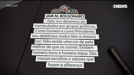 Bolsonaro diz que Brasil tem vários problemas além das questões raciais