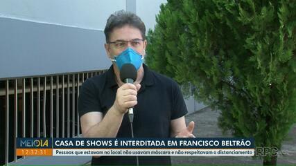 Casa de shows é interditada em Francisco Beltrão