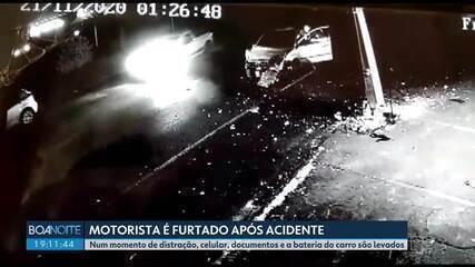 Motorista é furtado após acidente em Cascavel