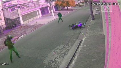 Veja momento da tentativa de assalto a PM em São Paulo