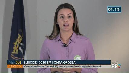Meio-Dia Paraná entrevista Mabel Canto (PSC), candidata à Prefeitura de Ponta Grossa
