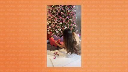 Romana Novais prepara decoração de Natal em casa