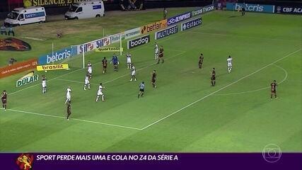 Sport perde para o Atlético-GO e fica a um ponto do Z-4