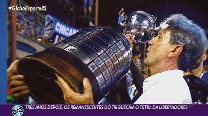 Três anos depois, remanescentes do tri buscam o tetra da Libertadores pelo Grêmio