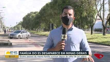 Família de Conceição da Barra, ES, desaparece após viajar para Minas Gerais
