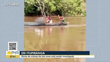 Criança de três anos morre em zona rural de Itupiranga e corpo é transportado em canoa
