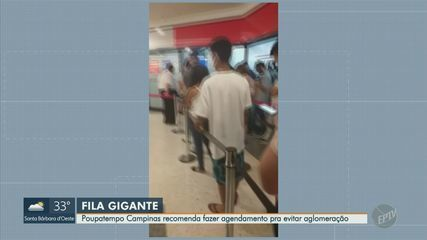 Imagens mostram fila gigante no Poupatempo Campinas
