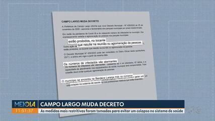 Campo Largo tem novo decreto no combate ao coronavírus