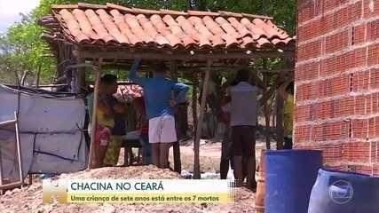 Uma criança de 7 anos está entre os mortos de uma chacina no Ceará