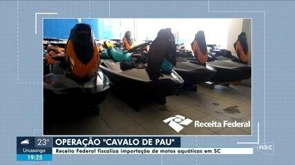 Receita Federal realiza operação para fiscalizar importação de motos aquáticas em SC
