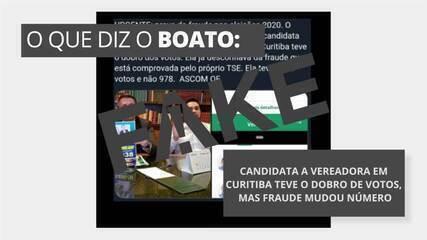É #FAKE que candidata a vereadora em Curitiba teve dobro de votos, mas foi alvo de fraude