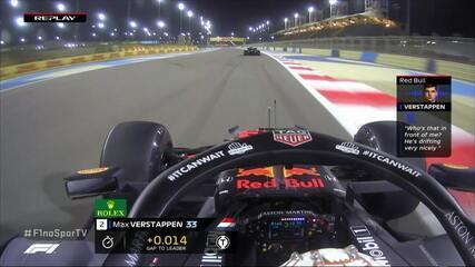 Verstappen brinca com engenheiro sobre Hamilton no rádio durante o treino livre do GP do Barein