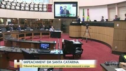 O governador de Santa Catarina é reconduzido ao cargo