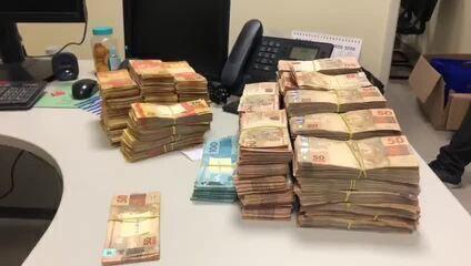 Homens detidos em Caucaia estavam com R$ 600 mil em dinheiro