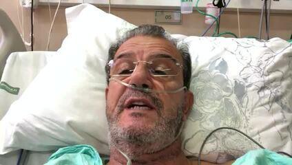 Prefeito de Araçatuba grava vídeo deitado em leito de hospital