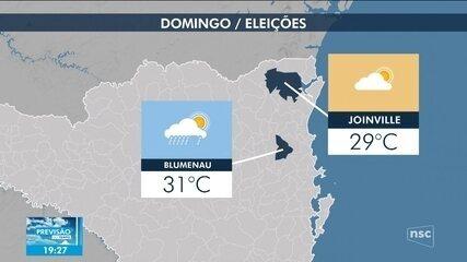 Veja a previsão do tempo para SC neste domingo