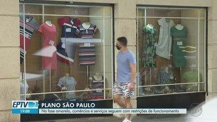 Na fase amarela, comércios e serviços seguem com restrições de funcionamento em Ribeirão
