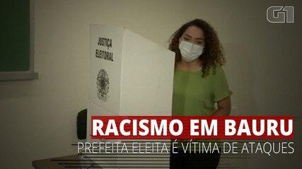 VÍDEO: Prefeita eleita em Bauru é alvo de mensagens racistas