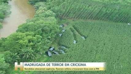 Quadrilha sitia Centro de Criciúma (SC) e faz reféns em assalto a banco
