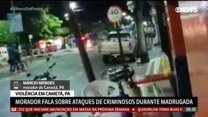 Morador de Cametá (PA) relata que criminosos fizeram escudo humano para se protegerem