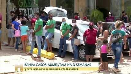 Bahia vive aumento de casos de covid há 3 semanas